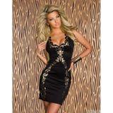 Sexy Foil Black Dress