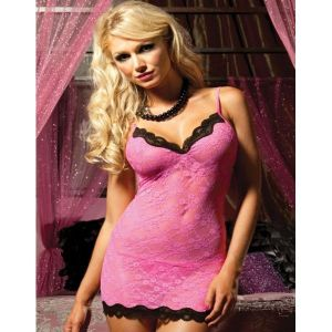 S-3XL Flirty and Seductive Scallop Detail Chemise