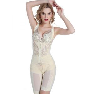Sexy Apricot Women Slim Shapewear