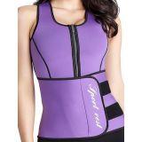 hot Power Slim Belt Purple Women Latex Corset