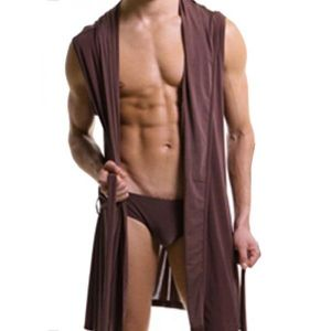 Men brown Bathrobe. Артикул: IXI49992