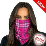 РАСПРОДАЖА! Универсальная бандана бафф Pink Plaid Sa&Co по оптовой цене