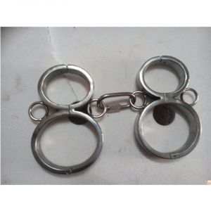 Unisex stainless steel multi-purpose hand and foot fixed handcuffs