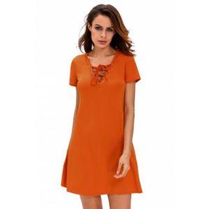 Оранжевое платье в стиле кежуал - Пляжная одежда