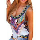 Trendy Boho Print Summer Tank Top
