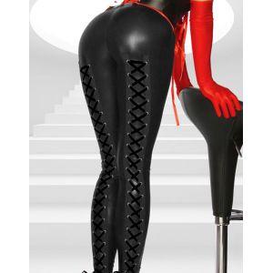 Vinyl black leggings