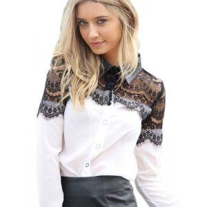 Fashion Women Long Sleeve Lace Tops. Артикул: IXI50680