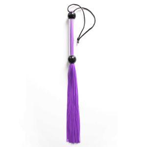 Небольшая резиновая плеть фиолетовая