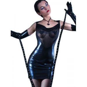 Sexy Wetlook Mesh Club Dress