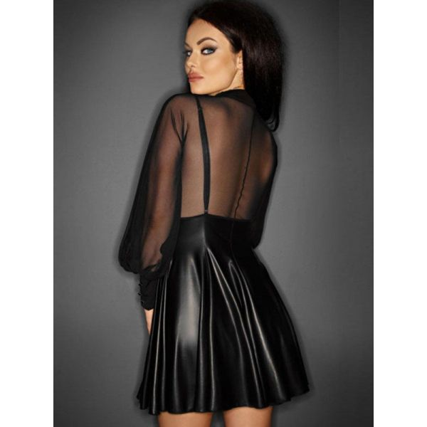 Latex mini dress. Артикул: IXI51065