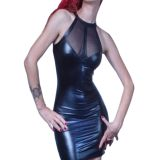Sexy Wet Look Club Dress