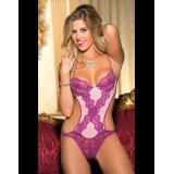 Butterfly Lace And Stretch Mesh Teddy