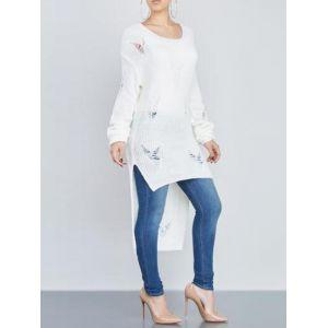 White Long Sleeve Women Sweater Tops. Артикул: IXI51203