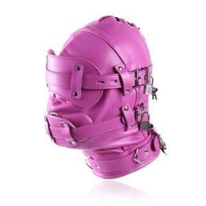 Closed pink mask