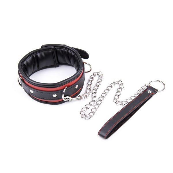 BDSM (БДСМ) - Кожаный ошейник с мягкой подкладкой Unisex