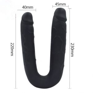 Black double-sided Dildo