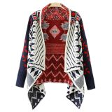 Tribal Thick Drape Cardigan Sweater
