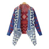Autumn Winter Geometric Pattern Women Sweater
