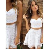 Sexy Lace Two Piece Suit