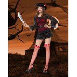 Black Mistress Pirate Wench Sexy Costume
