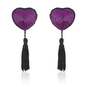Стикини на соски с фиолетовыми стразами - Стикини (на соски)