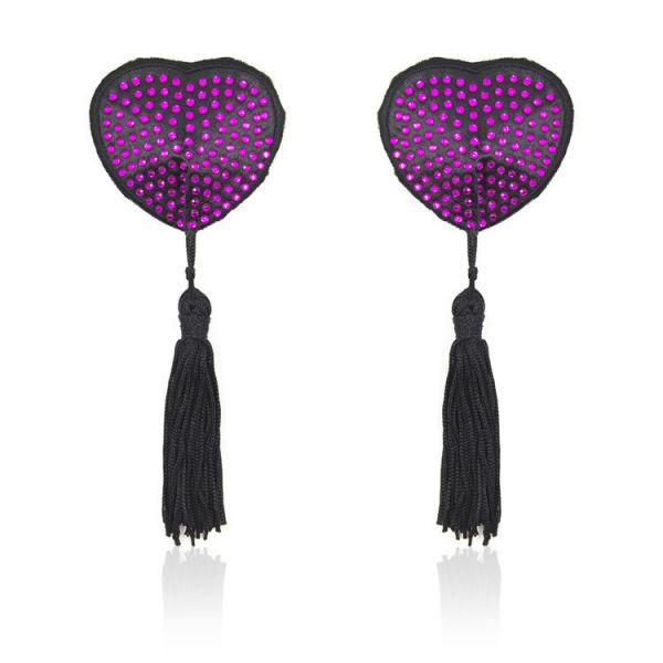 Stikine on the nipples with purple rhinestones. Артикул: IXI51678