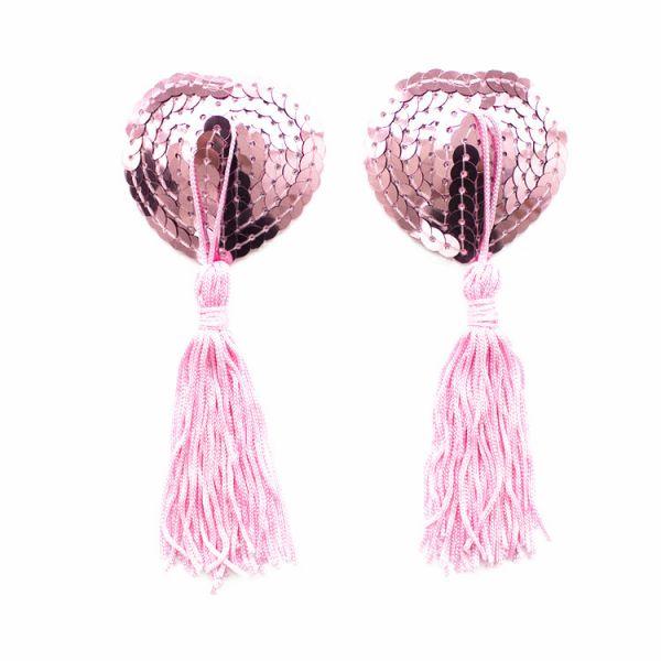 Розовые стикини с паеткми