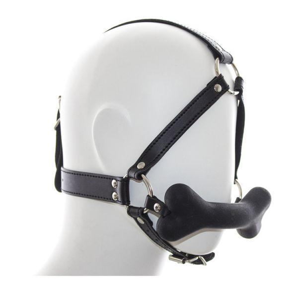 BDSM (БДСМ) - <? print Черный кляп на ремнях с косточкой; ?>