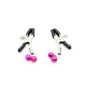 Nipple clamps with pink beads