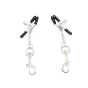 Nipple clamps with metal rings