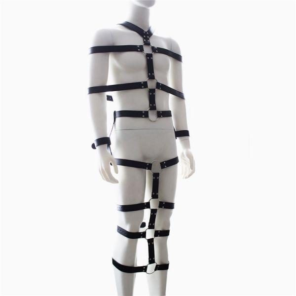 BDSM (БДСМ) - Черный кожаный bdsm костюм