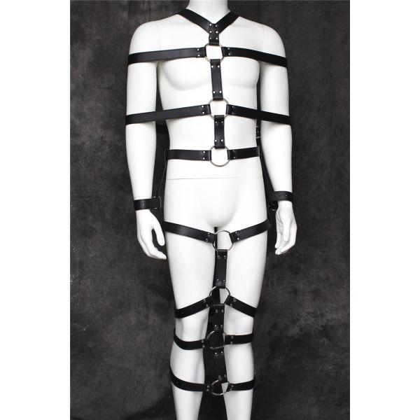 Black leather bdsm costume. Артикул: IXI52032