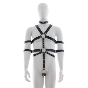 Mens harness leather