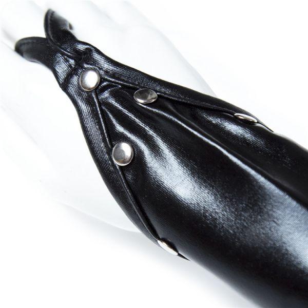 BDSM (БДСМ) - <? print Черные виниловые перчатки с открытыми пальцами; ?>