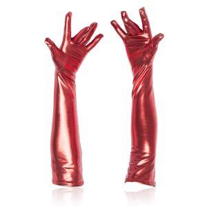 Красные длинные перчатки - Белье (латекс, винил)