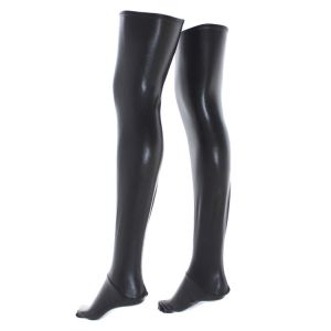 Black vinyl stockings