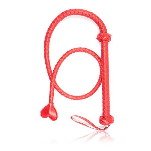 Кнут плетенный красный с сердечком