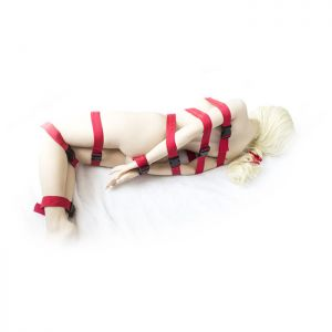 Bondage red belt for the entire body