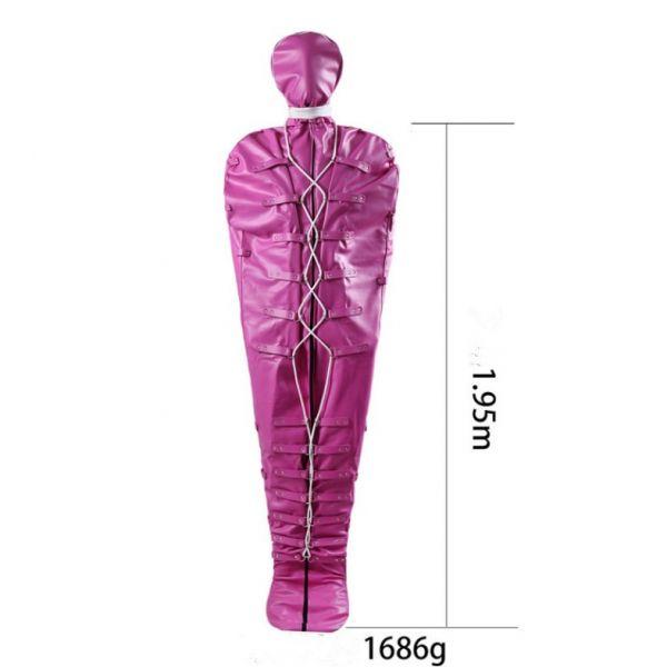 Leather bondage Mummification pink. Артикул: IXI52219