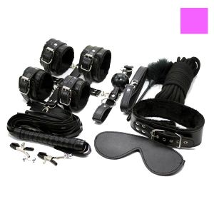 Bdsm set of 9 items in pink