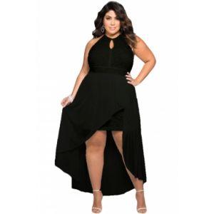 Stylish Black Lace Special Occasion Plus Size Dress. Артикул: IXI52810