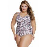 Leopard Peekaboo Plus Size Monokini