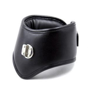 Leather Bondage Restraint Soft Sponge Padded Collar