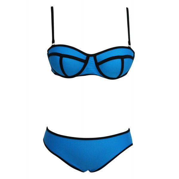 Яркий синий купальник