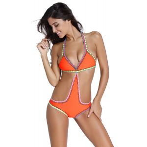 Bright orange swimsuit