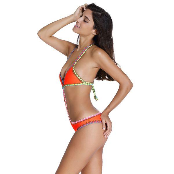 Bright orange swimsuit. Артикул: IXI53264