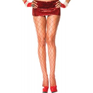 Red Womens Sexy Diamond Pantyhose