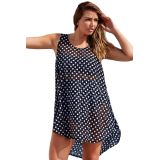Monochrome Polka Dot Sheer Chiffon Beach Dress по оптовой цене