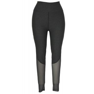 Grey sports leggings with mesh