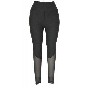 Grey Slimming Effect Sport Legging with Mesh - Спортивная одежда